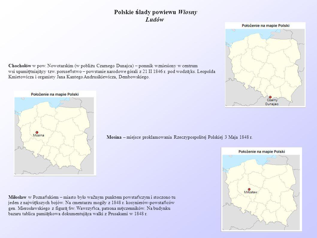 Polskie ślady powiewu Wiosny Ludów