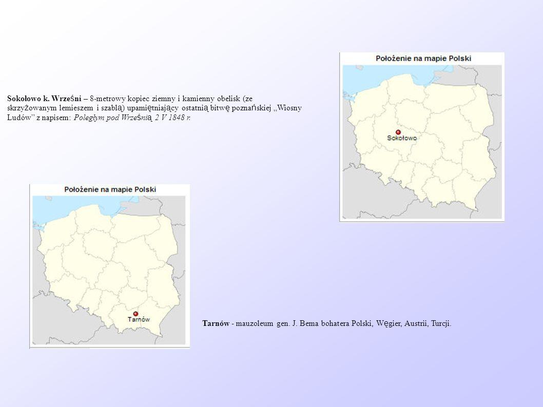 Sokołowo k. Wrześni – 8-metrowy kopiec ziemny i kamienny obelisk (ze