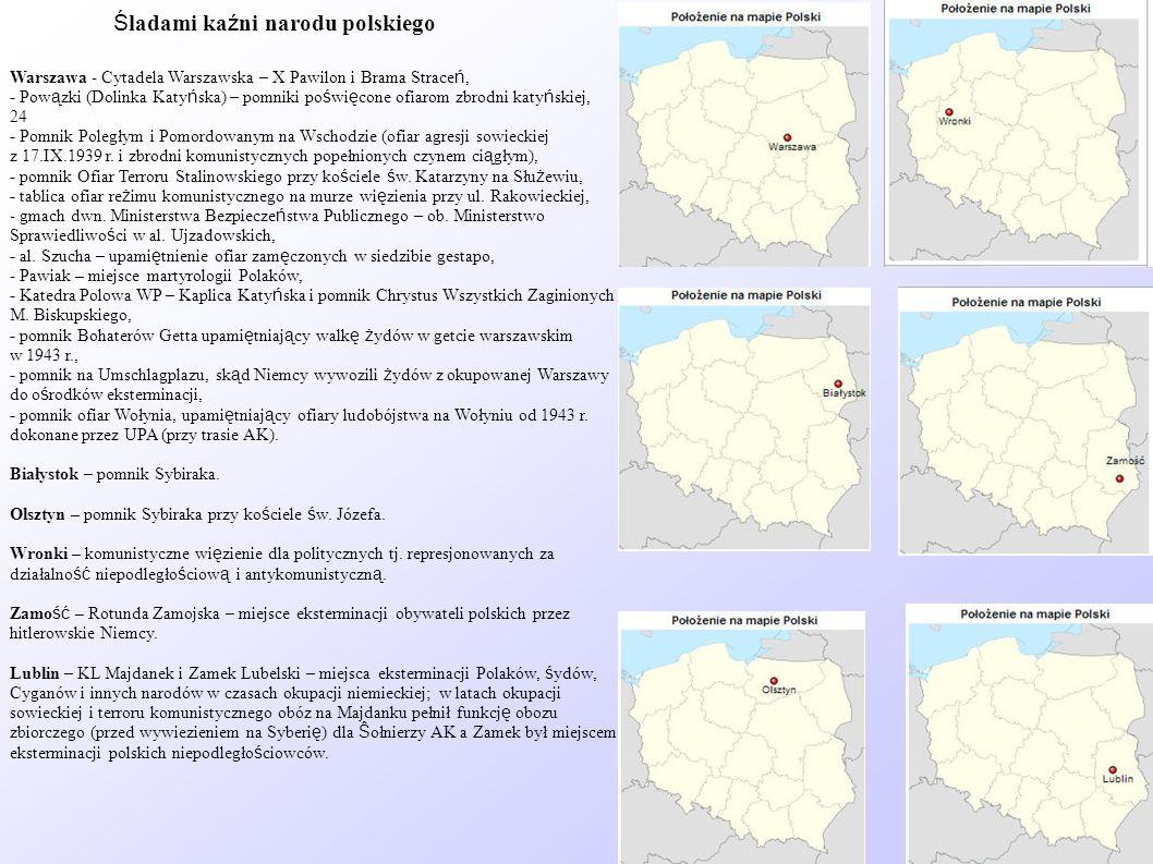Śladami kaźni narodu polskiego