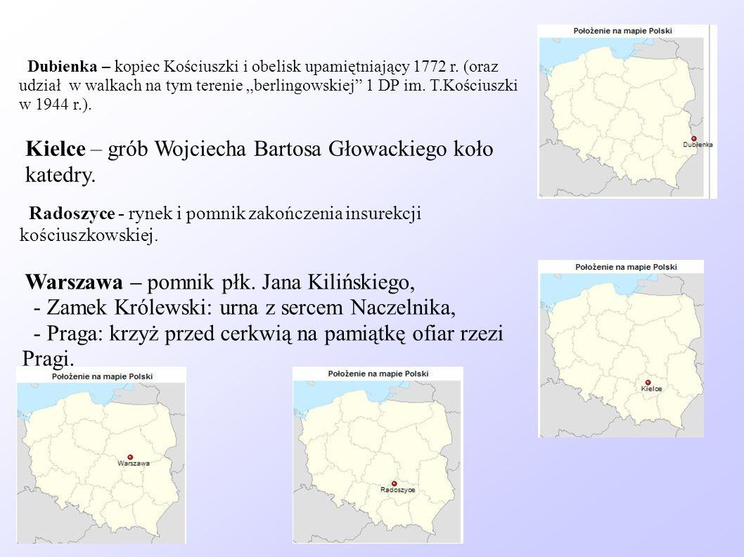 Kielce – grób Wojciecha Bartosa Głowackiego koło katedry.