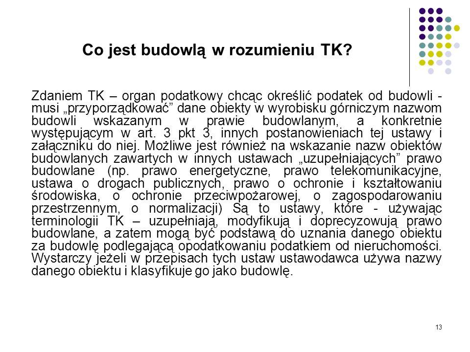 Co jest budowlą w rozumieniu TK