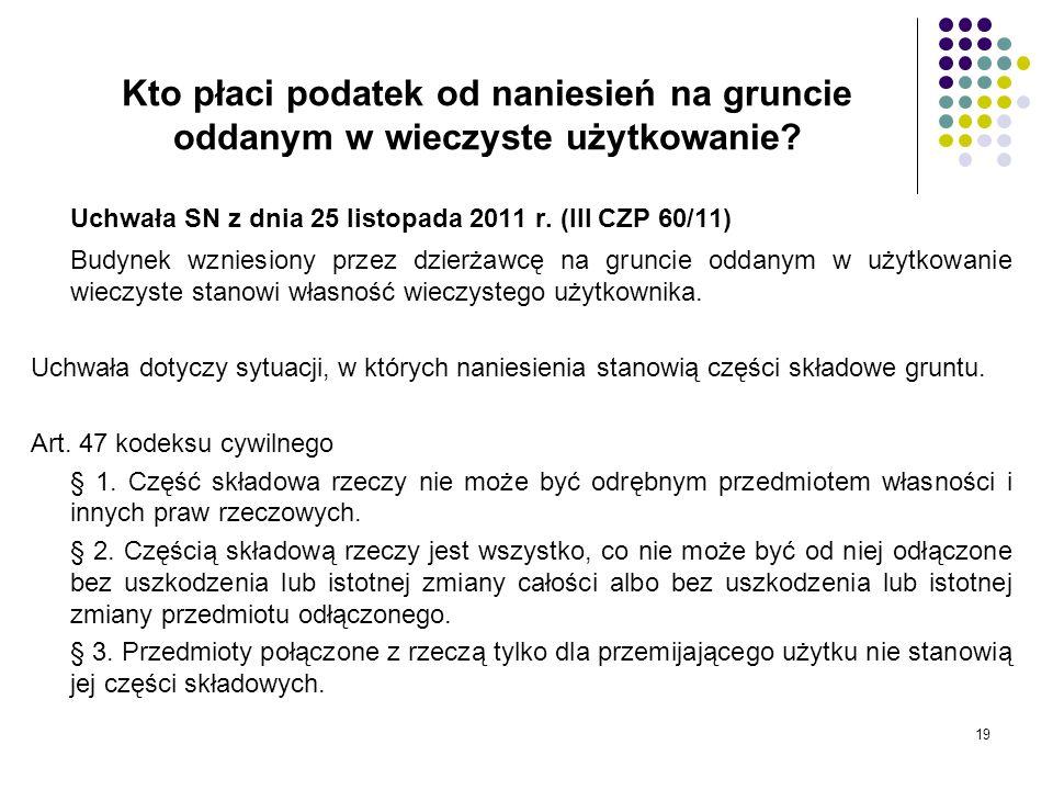 Uchwała SN z dnia 25 listopada 2011 r. (III CZP 60/11)