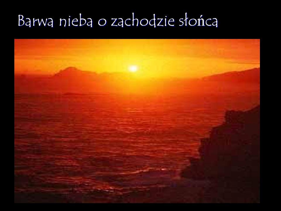 Barwa nieba o zachodzie słońca