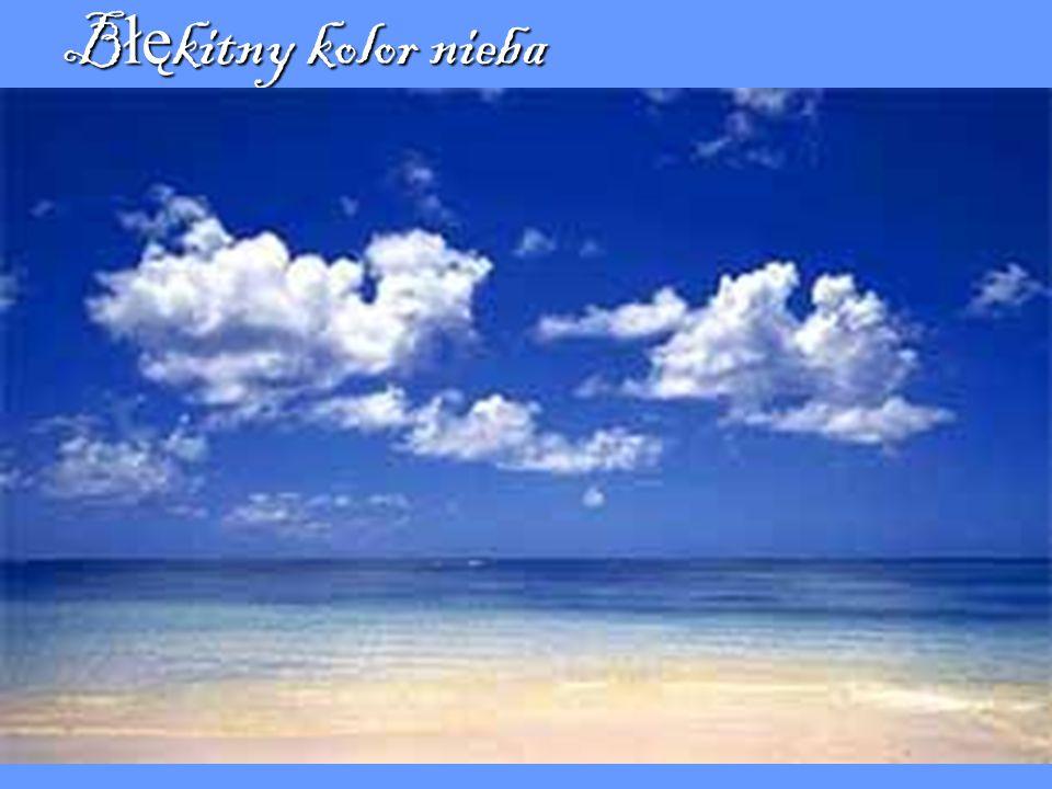 Błękitny kolor nieba