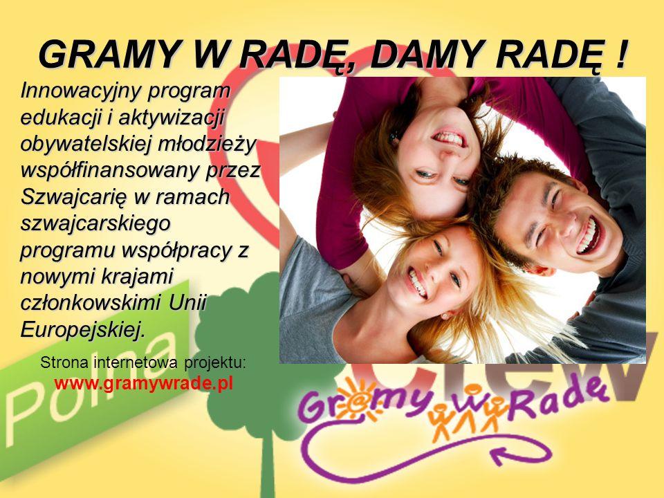 Strona internetowa projektu: www.gramywrade.pl