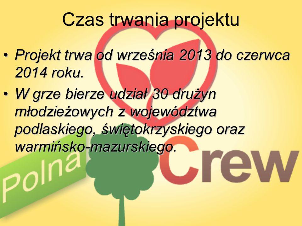 Czas trwania projektu Projekt trwa od września 2013 do czerwca 2014 roku.