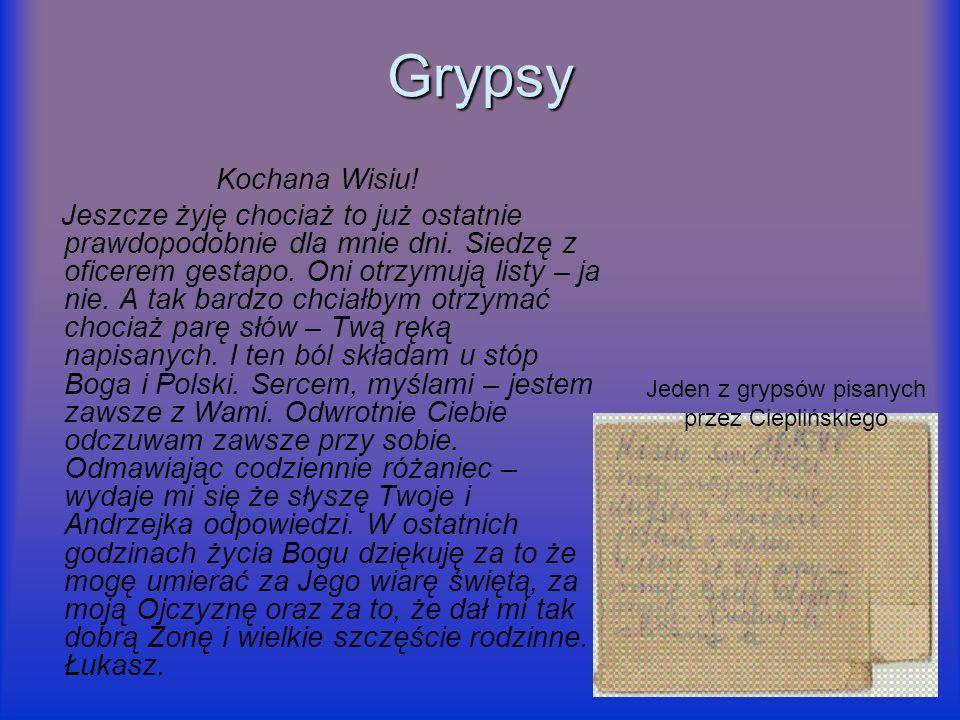 Jeden z grypsów pisanych przez Cieplińskiego