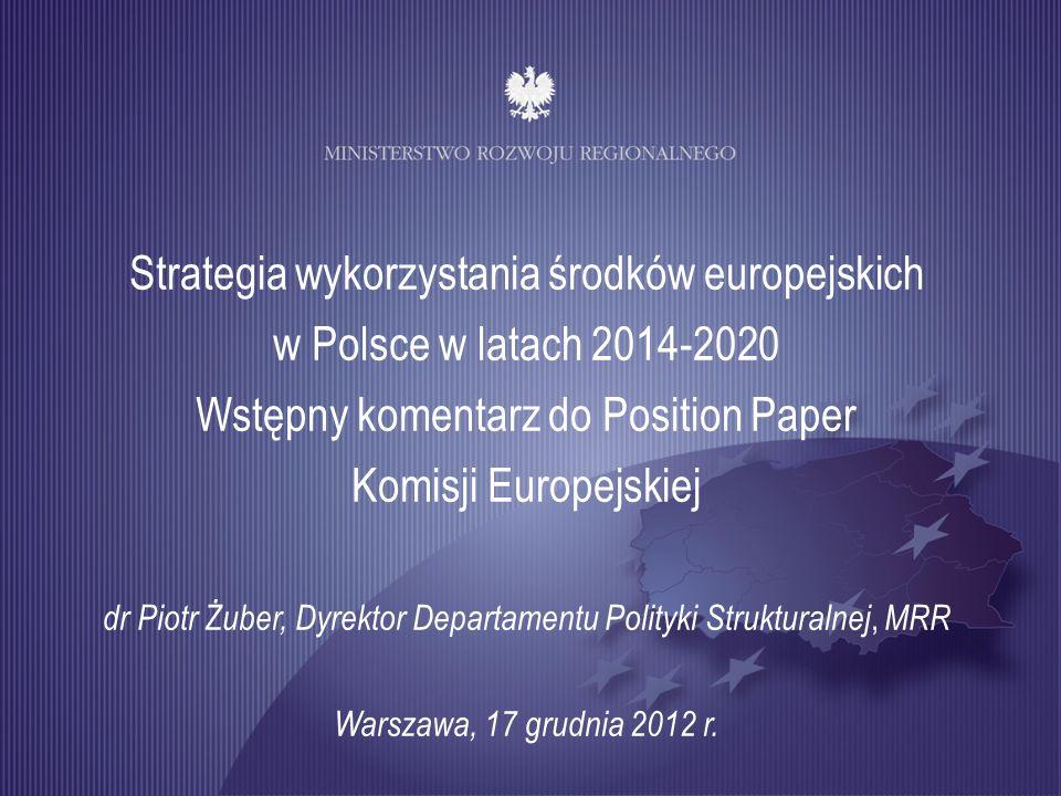 Wstępny komentarz do Position Paper Komisji Europejskiej