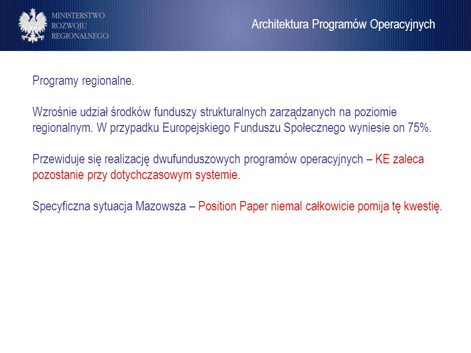 Architektura Programów Operacyjnych