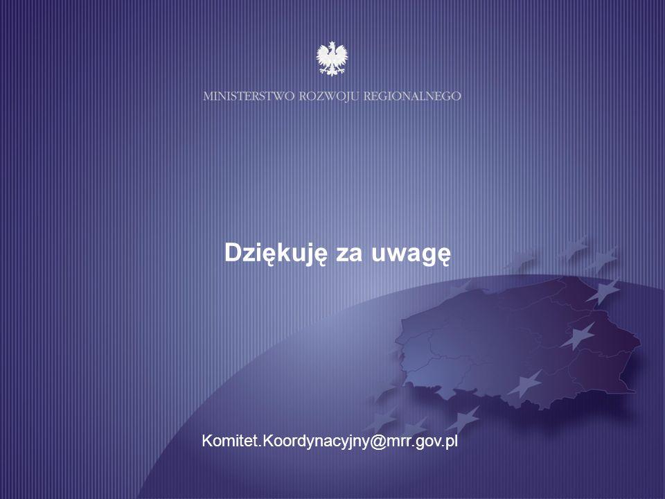 Dziękuję za uwagę Komitet.Koordynacyjny@mrr.gov.pl 13 13