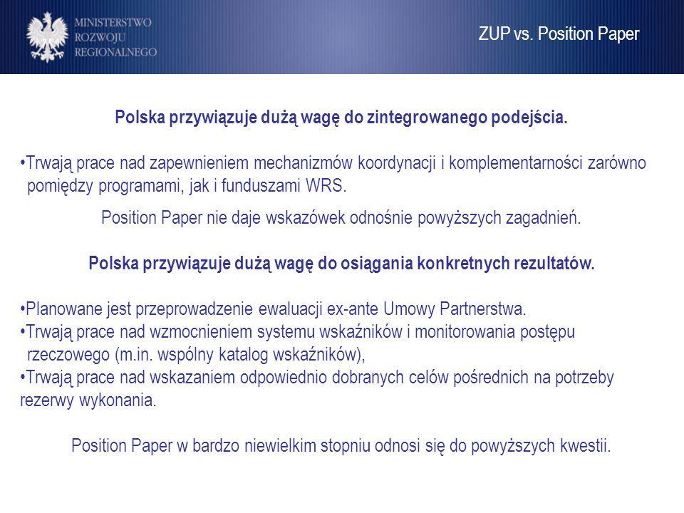 Polska przywiązuje dużą wagę do zintegrowanego podejścia.