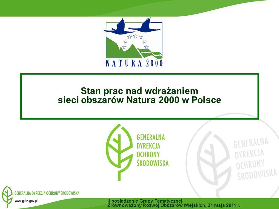 Stan prac nad wdrażaniem sieci obszarów Natura 2000 w Polsce
