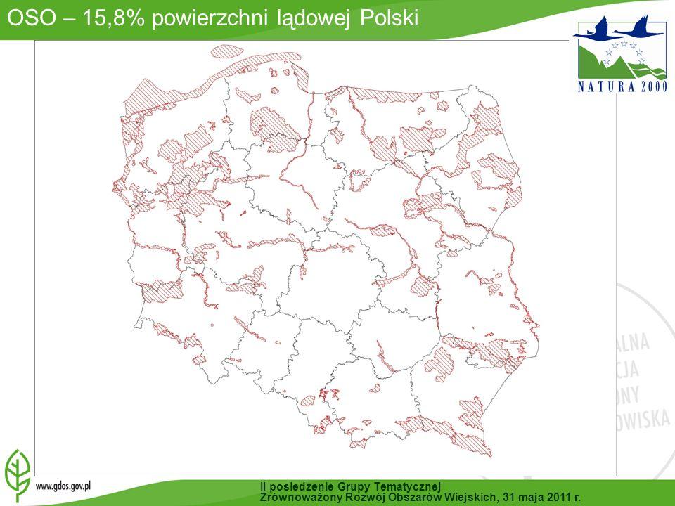 OSO – 15,8% powierzchni lądowej Polski