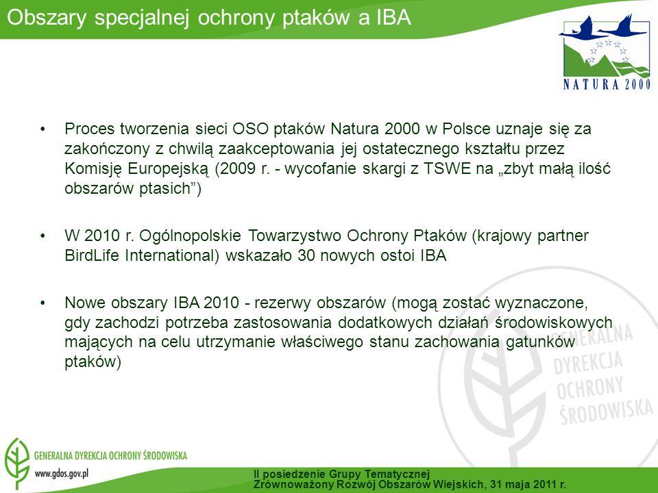Obszary specjalnej ochrony ptaków a IBA