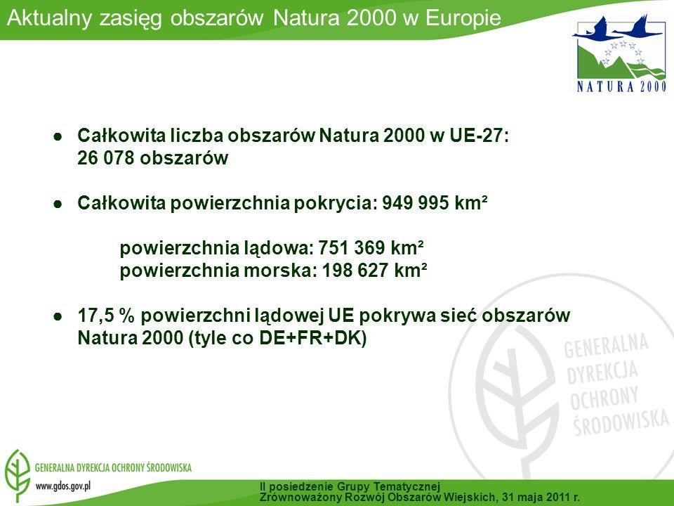 Aktualny zasięg obszarów Natura 2000 w Europie