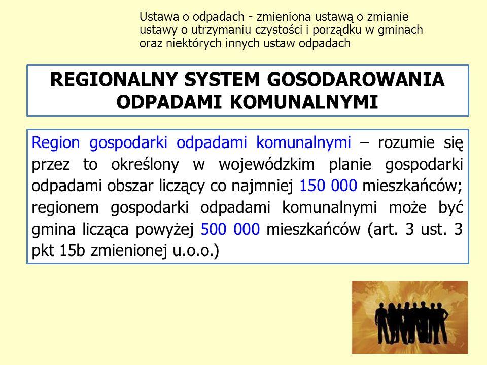 REGIONALNY SYSTEM GOSODAROWANIA ODPADAMI KOMUNALNYMI
