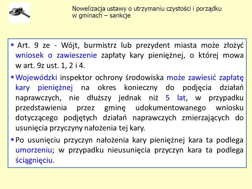 Nowelizacja ustawy o utrzymaniu czystości i porządku w gminach – sankcje
