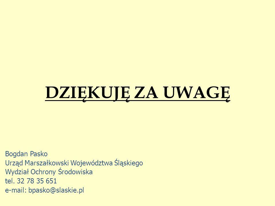 DZIĘKUJĘ ZA UWAGĘ Bogdan Pasko