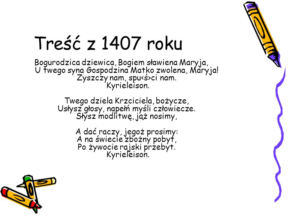 Treść z 1407 roku