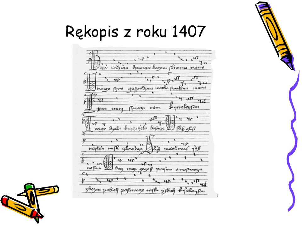 Rękopis z roku 1407
