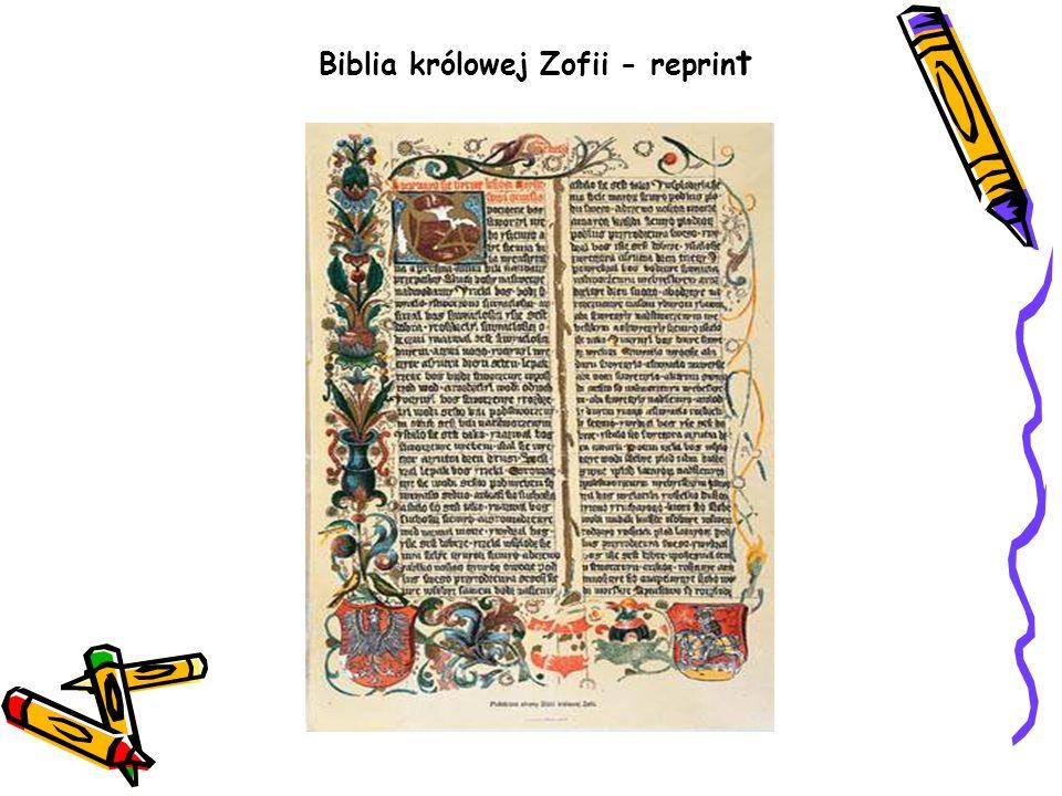Biblia królowej Zofii - reprint