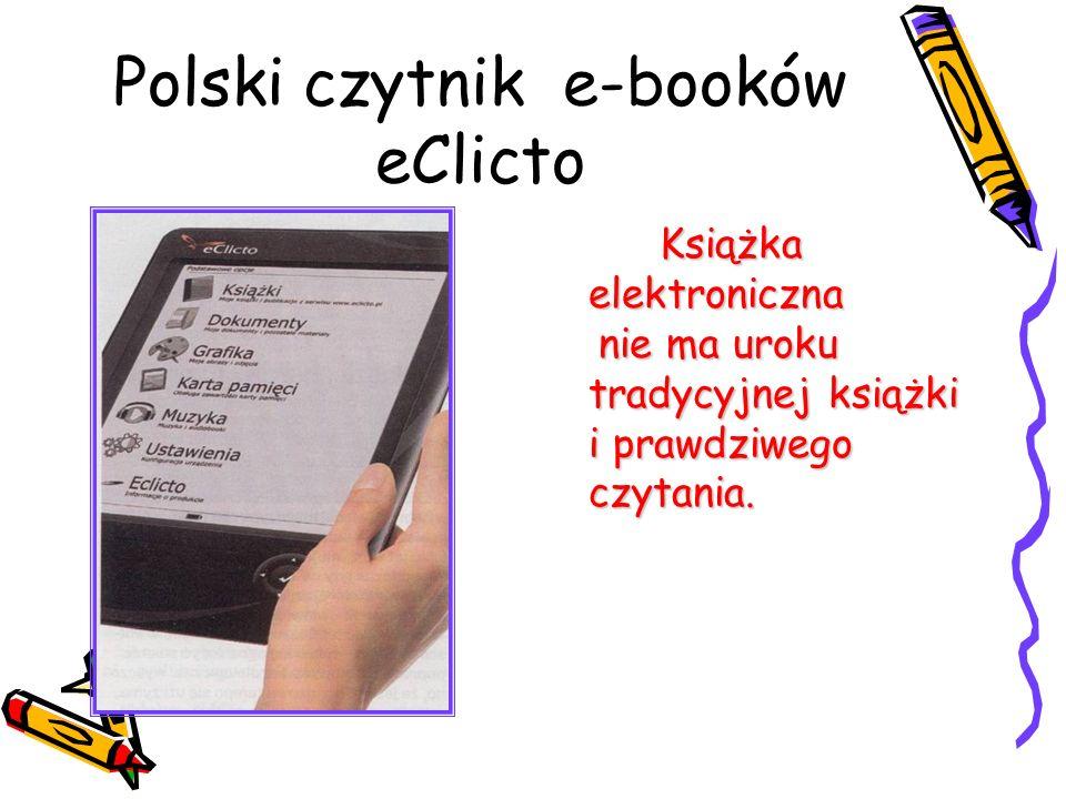 Polski czytnik e-booków eClicto