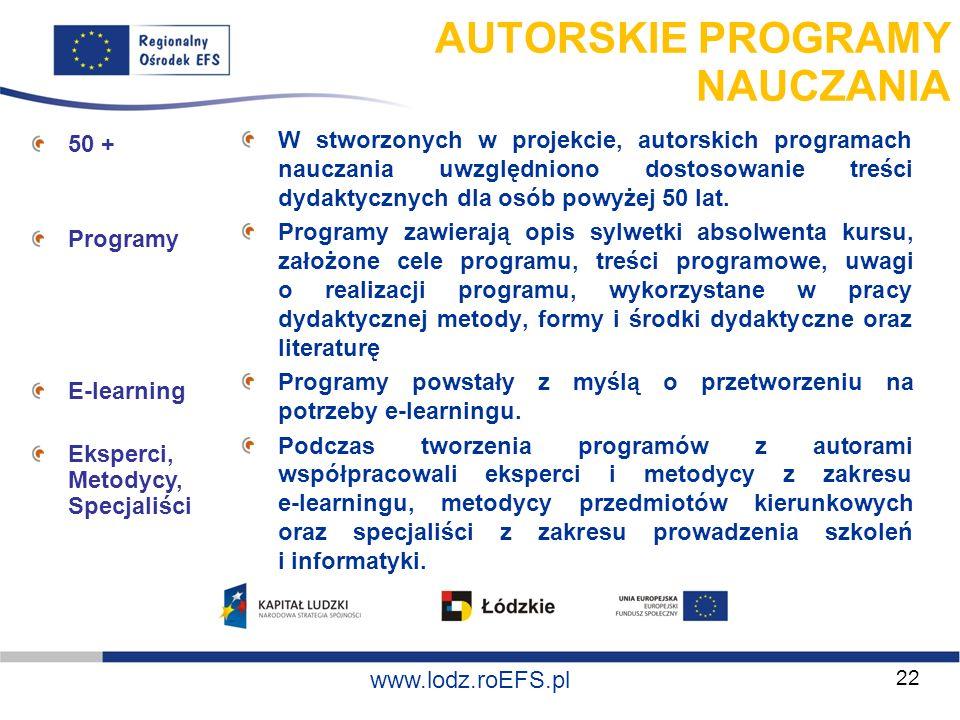 AUTORSKIE PROGRAMY NAUCZANIA