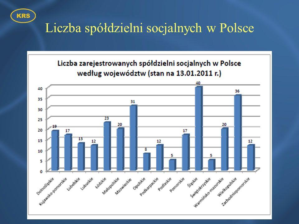 Liczba spółdzielni socjalnych w Polsce