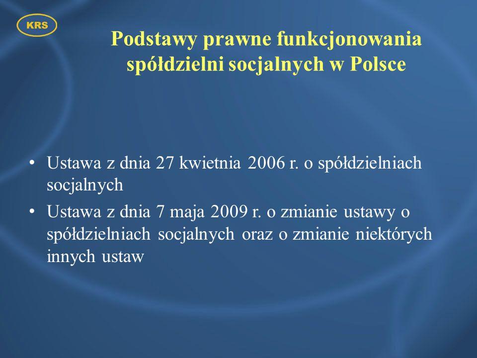 Podstawy prawne funkcjonowania spółdzielni socjalnych w Polsce