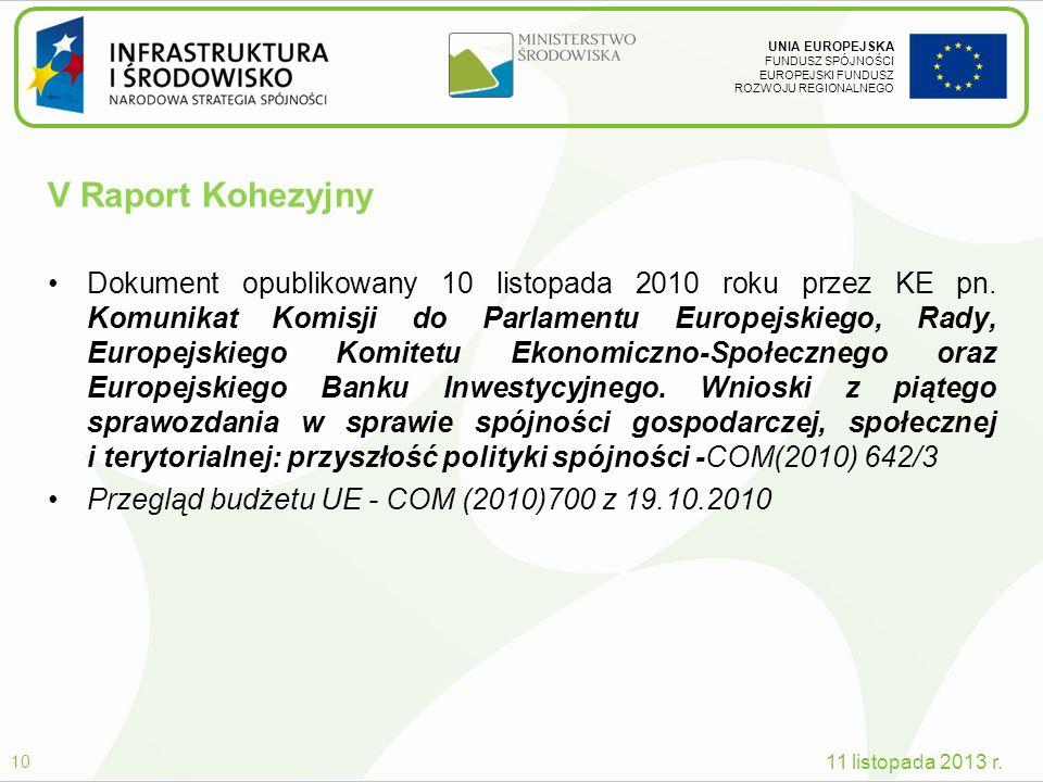 V Raport Kohezyjny