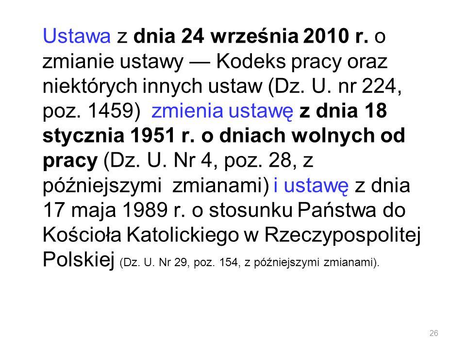 Ustawa z dnia 24 września 2010 r
