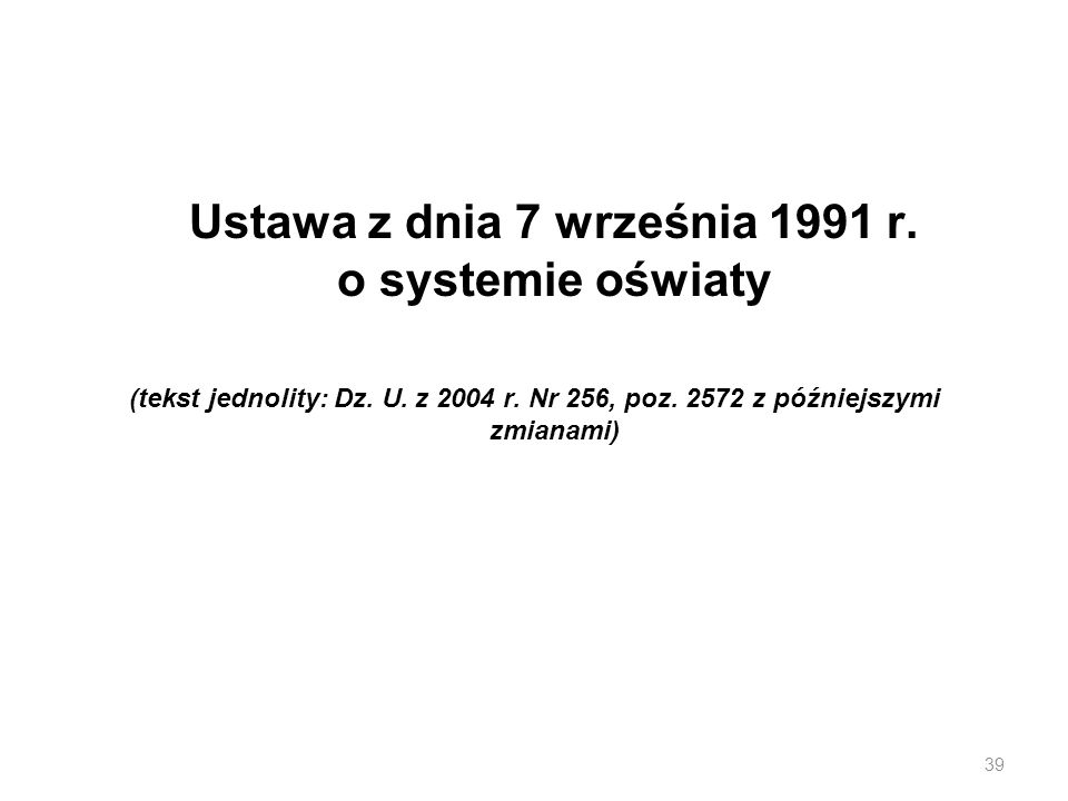 Ustawa z dnia 7 września 1991 r. o systemie oświaty