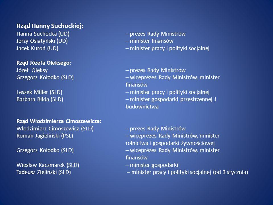 Rząd Hanny Suchockiej: Hanna Suchocka (UD)