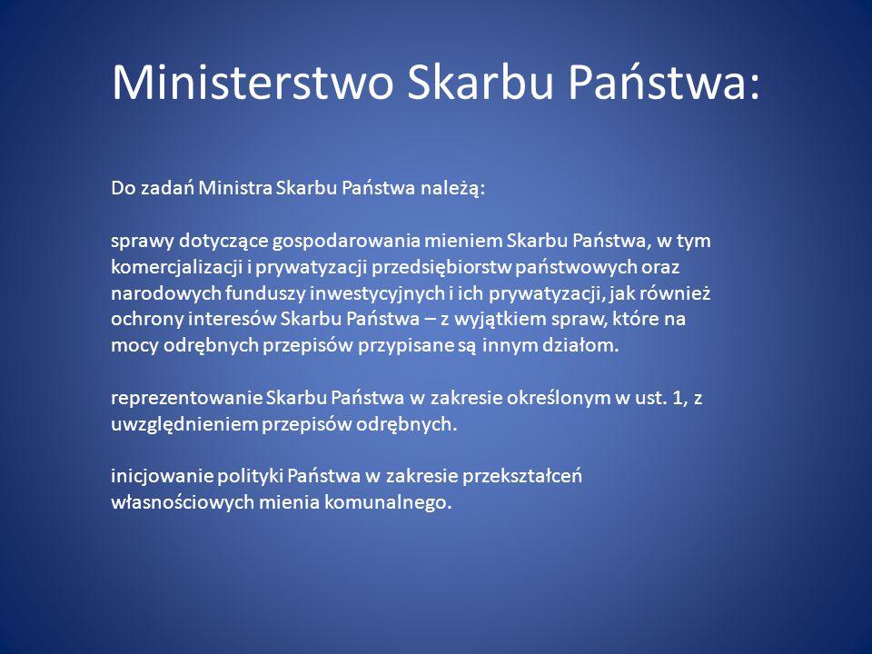 Ministerstwo Skarbu Państwa: