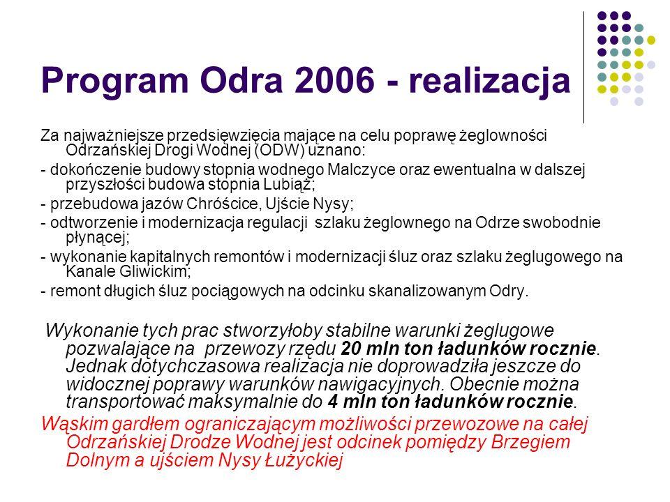 Program Odra 2006 - realizacja