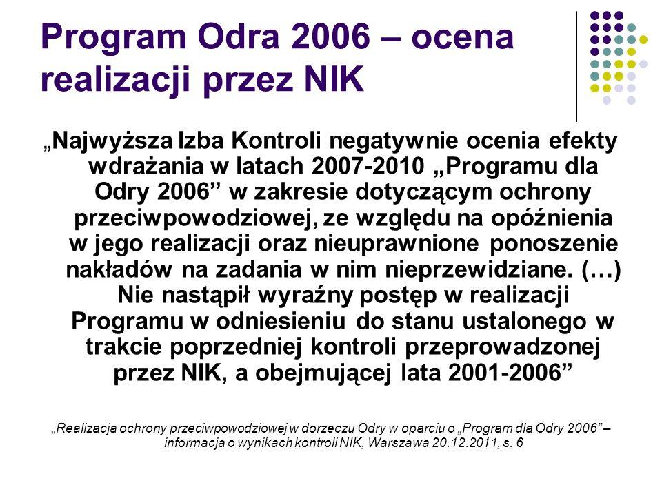 Program Odra 2006 – ocena realizacji przez NIK