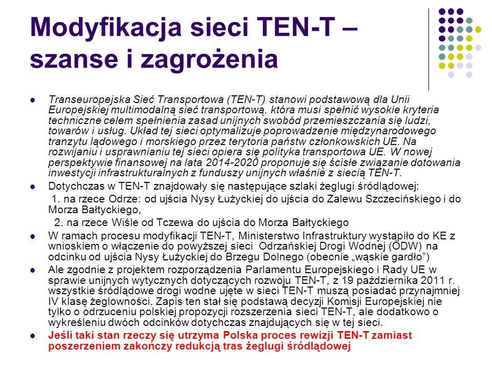 Modyfikacja sieci TEN-T – szanse i zagrożenia