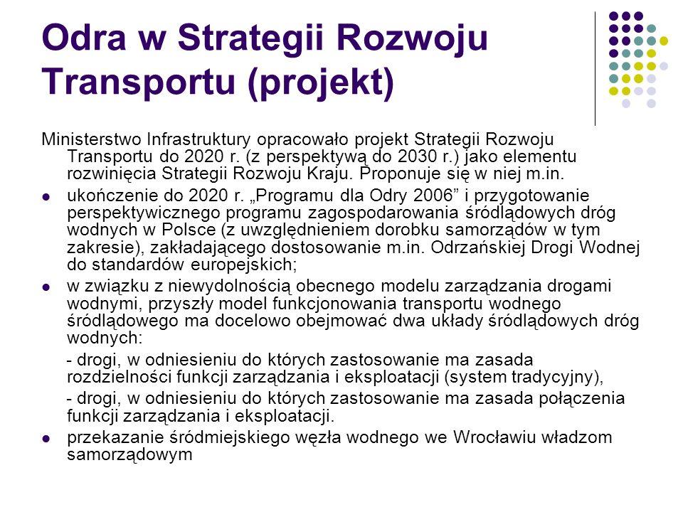 Odra w Strategii Rozwoju Transportu (projekt)