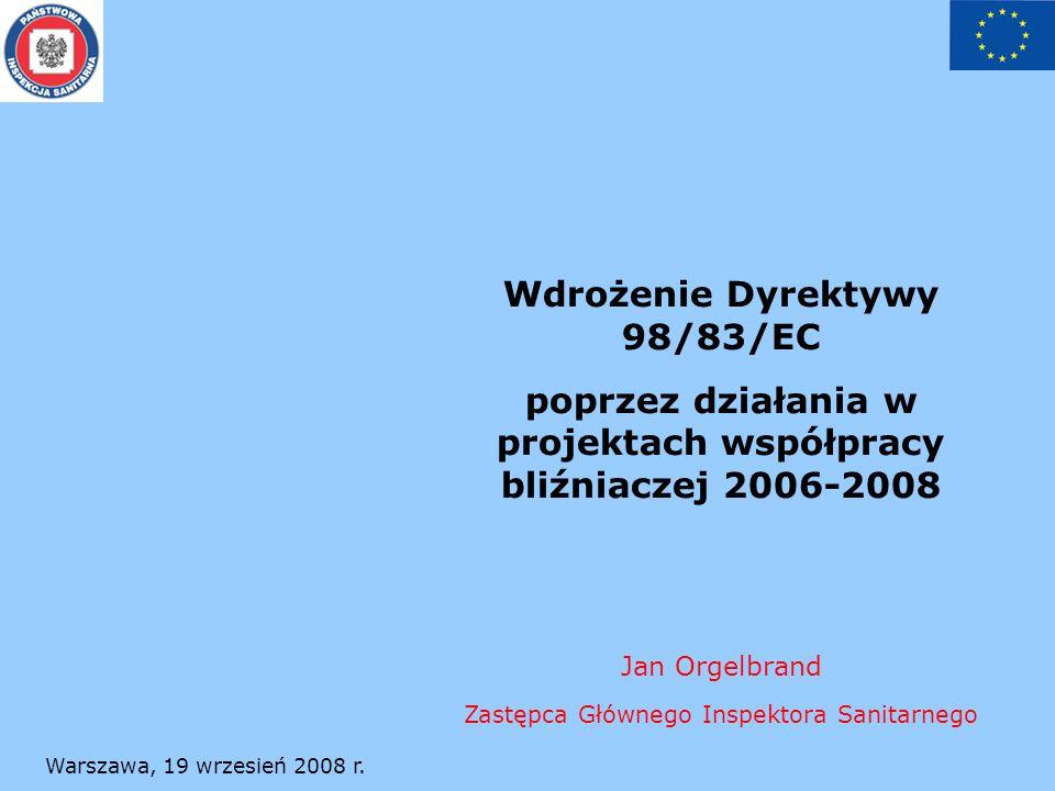 Wdrożenie Dyrektywy 98/83/EC