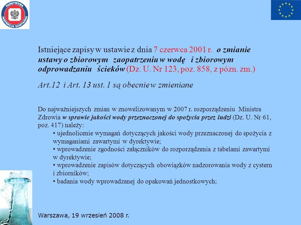 Art.12 i Art. 13 ust. 1 są obecnie w zmieniane