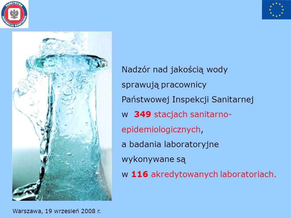 Nadzór nad jakością wody sprawują pracownicy