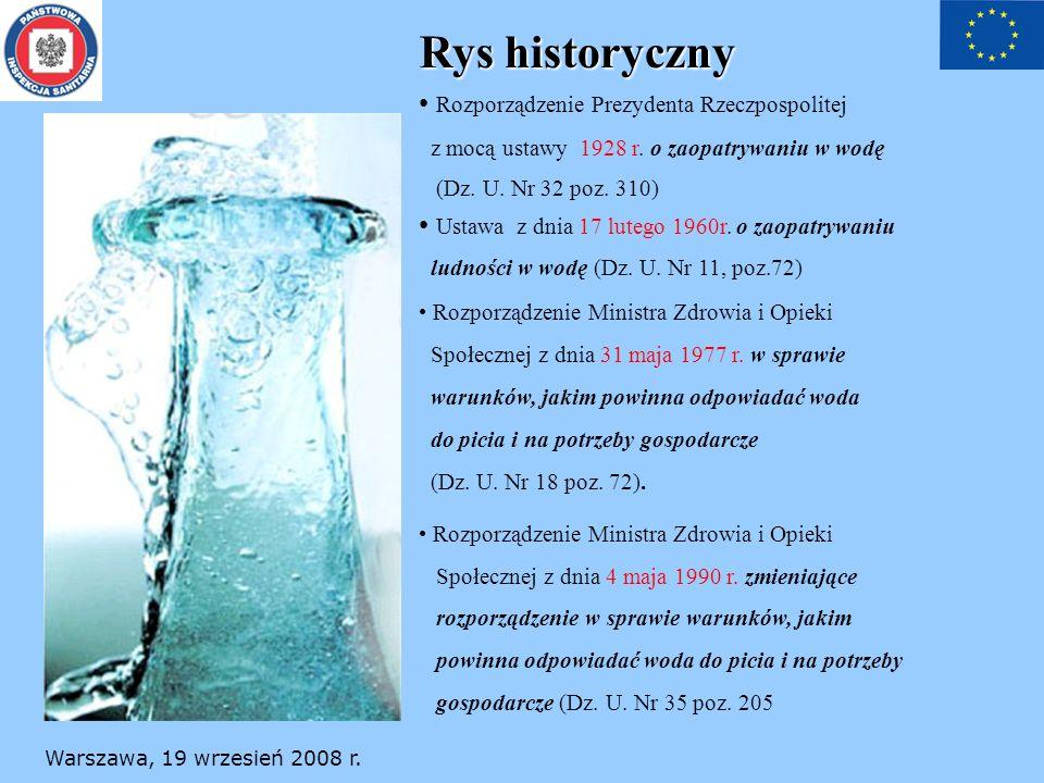 Rys historyczny Rozporządzenie Prezydenta Rzeczpospolitej
