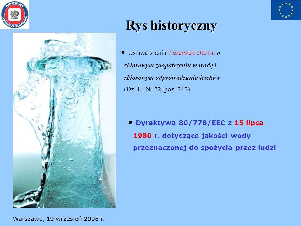 Rys historyczny Ustawa z dnia 7 czerwca 2001 r. o