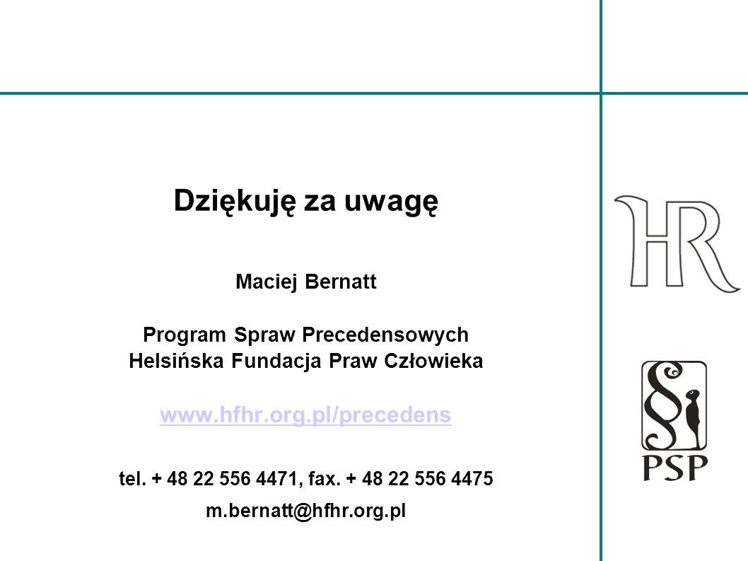 Program Spraw Precedensowych Helsińska Fundacja Praw Człowieka