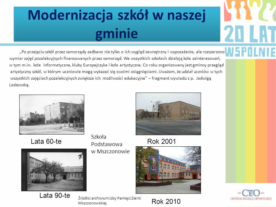 Modernizacja szkół w naszej gminie