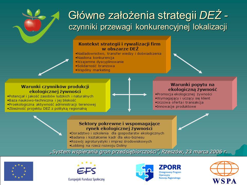 Główne założenia strategii DEŻ - czynniki przewagi konkurencyjnej lokalizacji