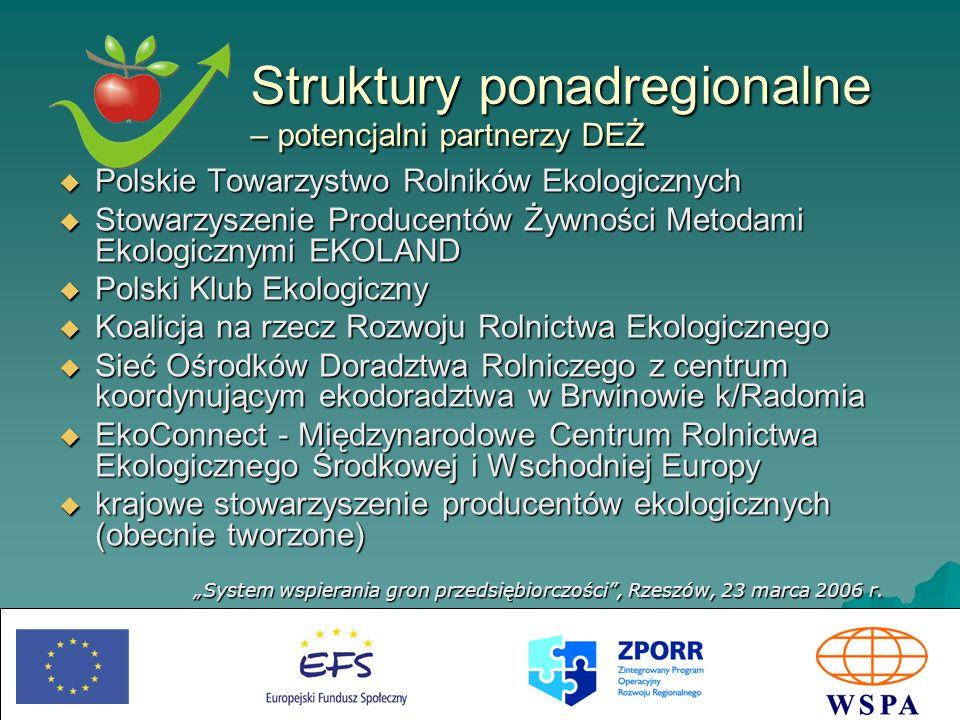 Struktury ponadregionalne – potencjalni partnerzy DEŻ