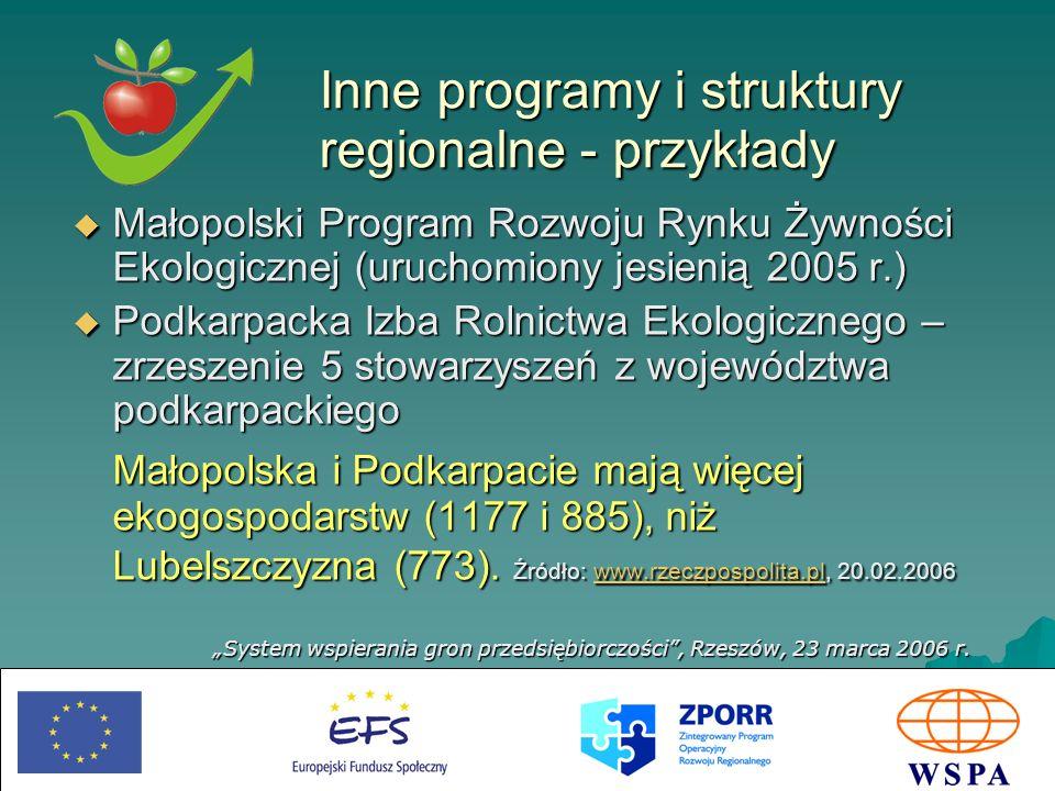 Inne programy i struktury regionalne - przykłady