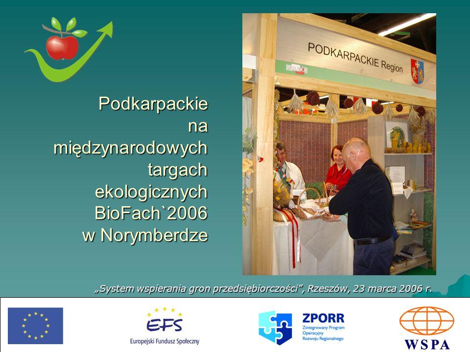 Podkarpackie na międzynarodowych targach ekologicznych BioFach`2006 w Norymberdze
