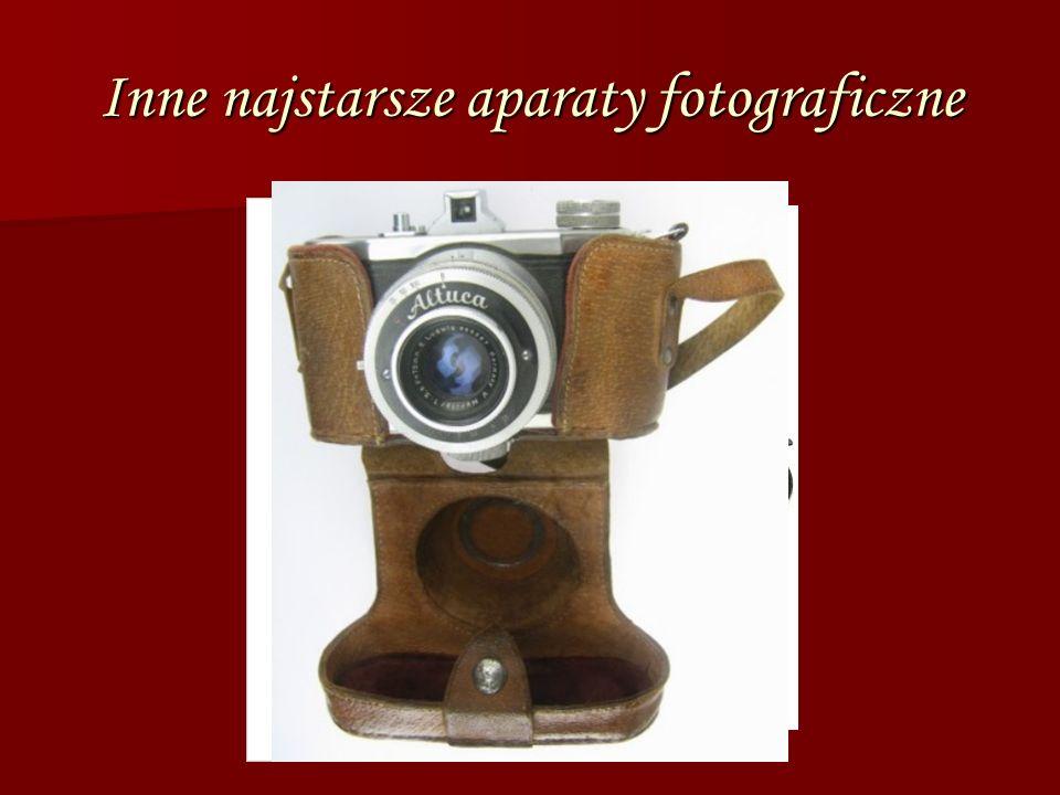 Inne najstarsze aparaty fotograficzne